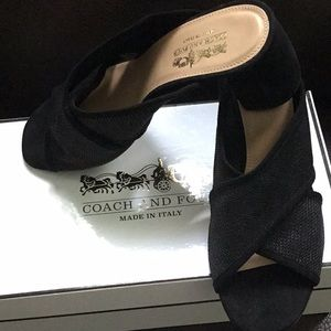Coach and Four- Black Suede sandals